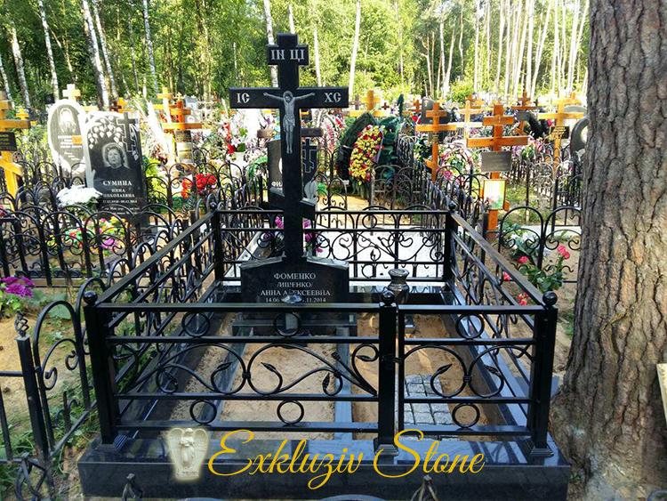 кованая ограда на могилу