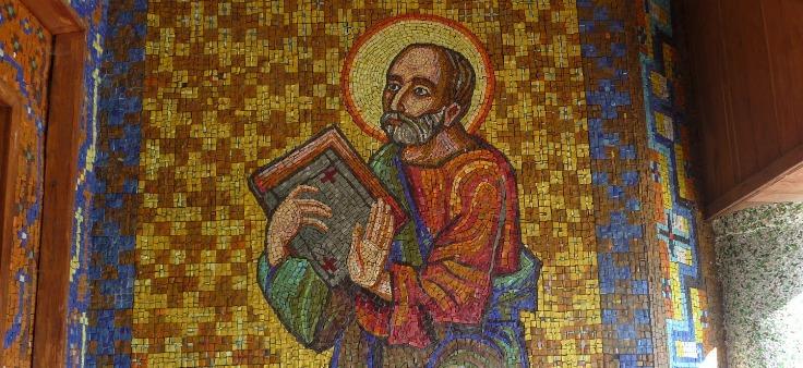 Портрет на памятник из мозайки