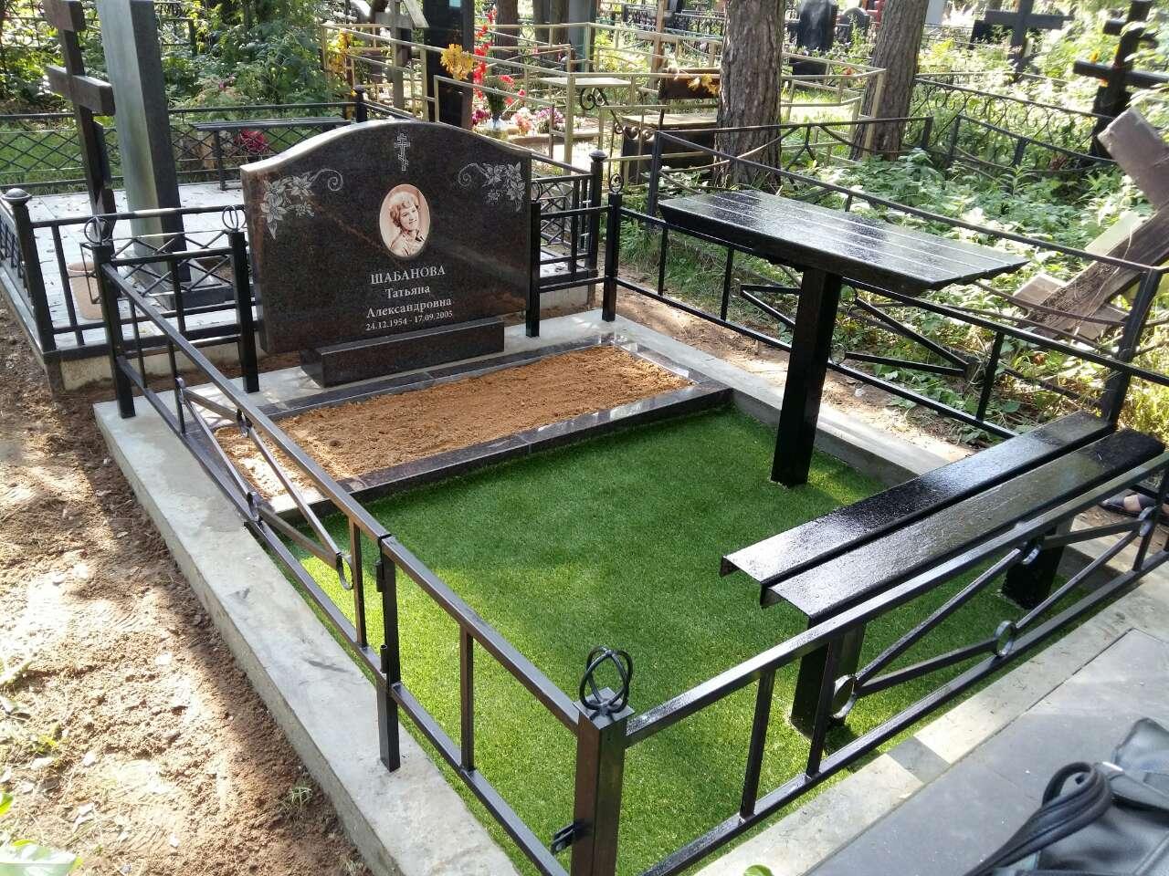 металлическая ограда на могилу