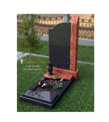 Комбинированный памятник из гранита мужчине ES7-4