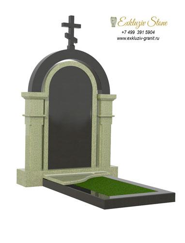 Памятник из гранита с аркой ES13-1