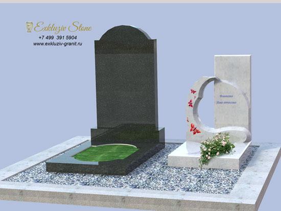 Детский памятник из белого мрамора заказать в Exkluziv Stone Москва