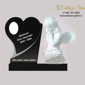 Памятник детский сердце с ангелом ES26