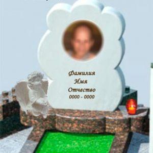 Белый памятник детский