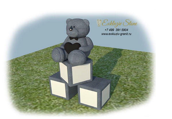 Детский памятник с мишкой ES29