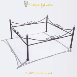 ограда металлическая на могилу