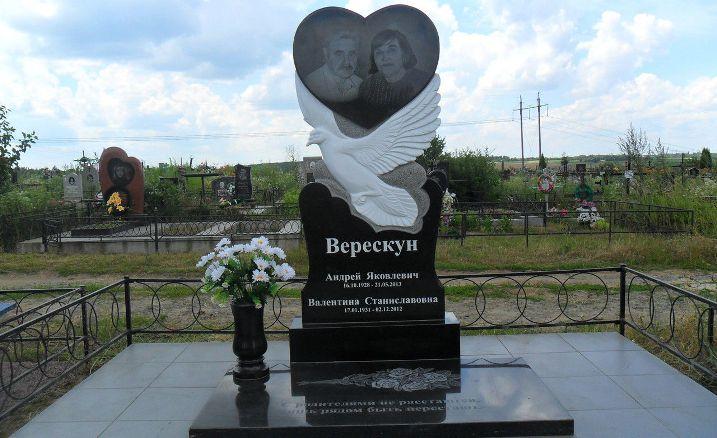памятник из гранита голуби картинки